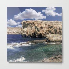 Azure Window Attraction In Gozo Island Metal Print