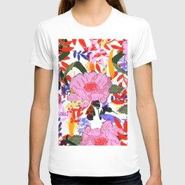 blossom pattern T-shirt