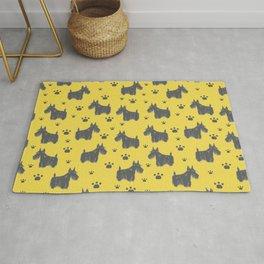 Cute Scottish Terrier Dog Pattern Design Rug