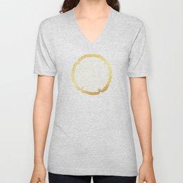 Gold Foil Tree Ring Unisex V-Neck