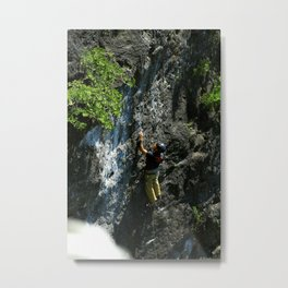 Lions Head Rock Climber Metal Print