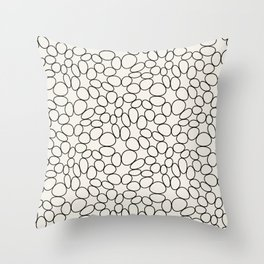 Stone Circles Pattern Throw Pillow