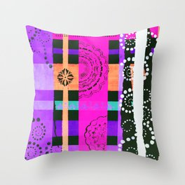 Lace Swirls and Dots Abstract Throw Pillow