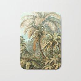 Vintage Tropical Palm Bath Mat