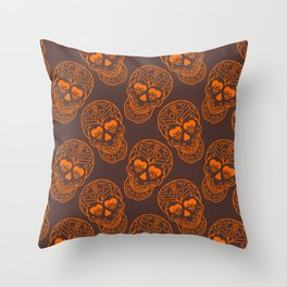 Abstract Skull Monster Throw Pillow