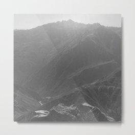 Top of the Rockies B&W Metal Print