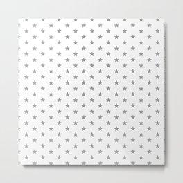 Superstars Gray on White Small Metal Print