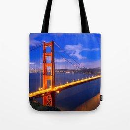 Marvellous San Francisco Golden Gate Bridge At Romantic Evening Red Ultra HD Tote Bag