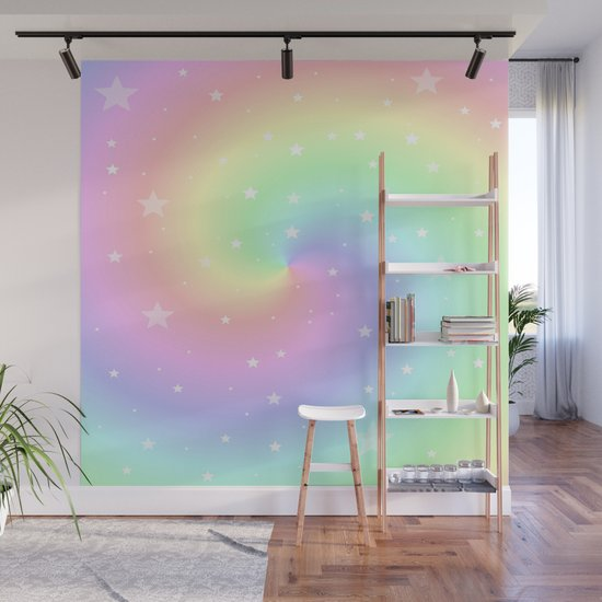 Rainbow Swirls and Stars by mariannamills