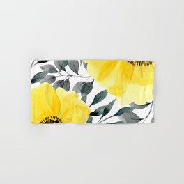 Big yellow watercolor flowers Hand & Bath Towel