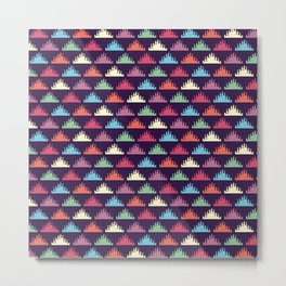 Coloured Triangles Metal Print