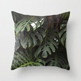 Monstera - botanical photography Throw Pillow