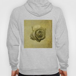 Metallic Gold Rose Flower Luxury Floral Victorian Bohemian Girly Wedding Bride Hoody