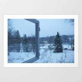 The Blue Moment - Finland in the winter #4 - Fiskars Artist Village  Art Print