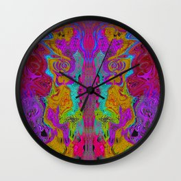 Twisted Bug Face (Dark) (Psychedelic) Wall Clock