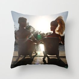 When The Moment Is Right Throw Pillow