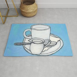 coffee and spoon Rug