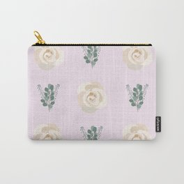 Light Purple Eucalyptus Rose  Carry-All Pouch