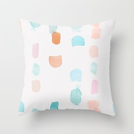 Watercolor Marks Throw Pillow