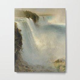 Niagara Falls - Frederic Edwin Church Metal Print