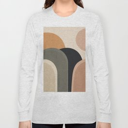 abstract minimal sunrise Long Sleeve T-shirt