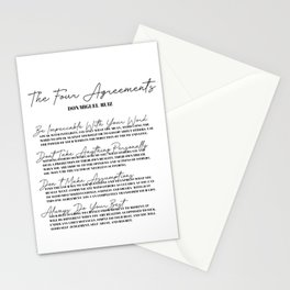 the four agreements Stationery Cards