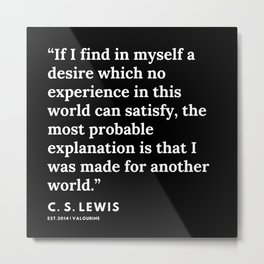 29     | 191121 | C. S. Lewis Quotes Metal Print