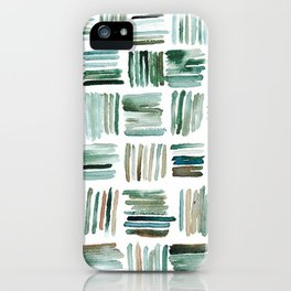 Muted Matchsticks Abstract Watercolor Painting iPhone Case