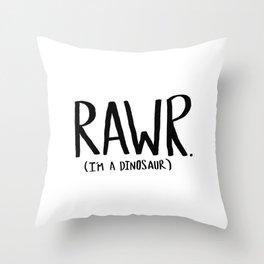 Rawr. I'm a Dinosaur Throw Pillow