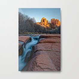 CATHEDRAL ROCK SUNSET SEDONA ARIZONA LANDSCAPE Metal Print