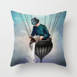 High in the Sky Throw Pillow