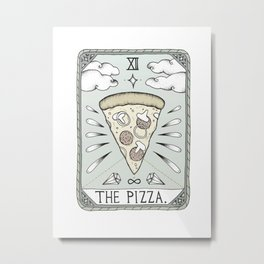 The Pizza Metal Print
