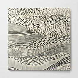 Hand Drawn Patterned Abstract II Metal Print