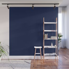 Navy Blue Minimalist Solid Color Block Wall Mural