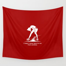 Running from Zombies Wall Tapestry
