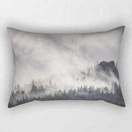 The foggy peak Rectangular Pillow