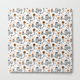 Cute small flowers pattern Metal Print