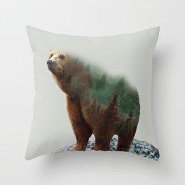 Bear Forest #socity6 #buyart #homedecor Throw Pillow