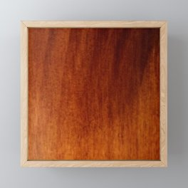 Wood grain Framed Mini Art Print