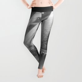 New York Grand Central Train Station Terminal Black and White Photographic Print Leggings