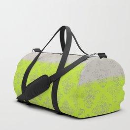 Layers Damask Lime Duffle Bag