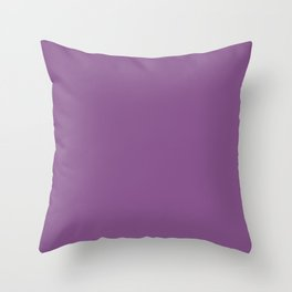 Inspired by Valspar America Cosmic Berry Bright Purple 4001-10C Solid Color Throw Pillow