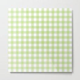 Green gingham pattern Metal Print