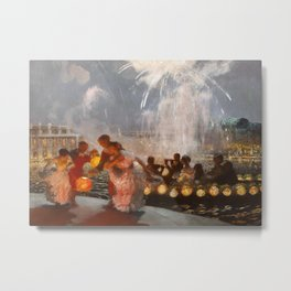The Joyous Festival by Gaston La Touche - French Post-Impressionism Metal Print