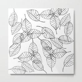 minimal leaves Metal Print