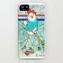 Curling Chicken iPhone Case