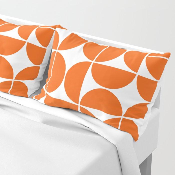 Mid Century Modern Geometric 04 Orange Kissenbezug