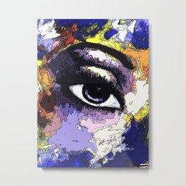 Title: Beautiful Eye - Digital Silk screen Version Metal Print