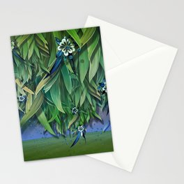 """Spring Forest of Surreal Leaf litter and flowers"" Stationery Cards"