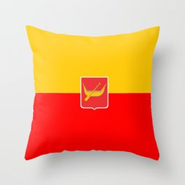 Flag of Lodz Throw Pillow